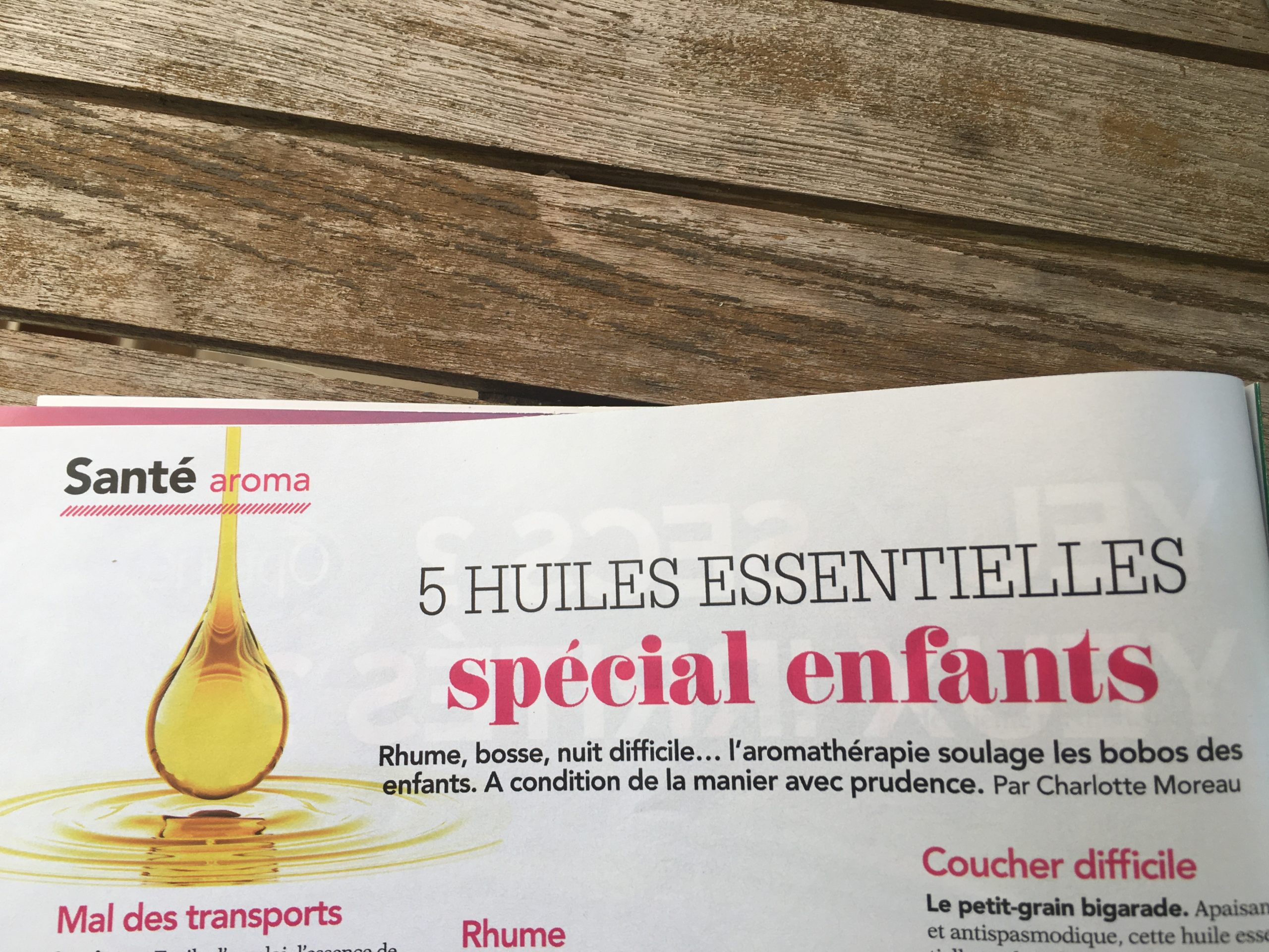 Article Femme actuelle - 5 huiles essentielles spécial enfants